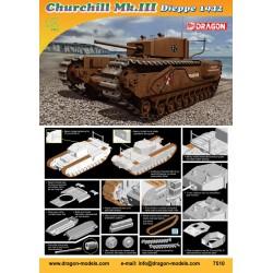 Dragon 7510 1:72 Churchill Mk.III, Dieppe 1942