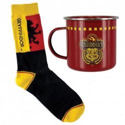 Harry Potter Gryffindor Quidditch Tin Mug and Socks Set