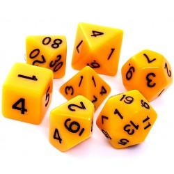Komplet kości REBEL RPG Matowe - Żółte