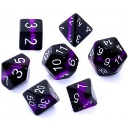 Komplet kości REBEL RPG Minerały Ametyst