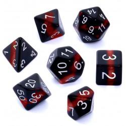 Komplet kości REBEL RPG Minerały Rubin
