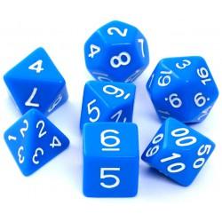 Komplet kości REBEL RPG Matowe Niebieskie