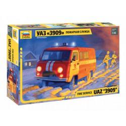 Zvezda 43001 1:43 Fire Service UAZ 3909