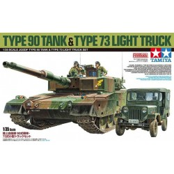 Tamiya 25186 1:35 JGSDF Type 90 Tank & Type 73 Light Truck