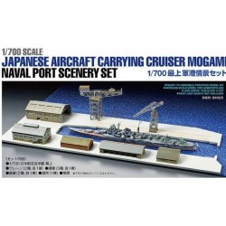 Tamiya 25416 1:700 Japanese Aircraft Carrying Cruiser Mogami Naval Port Scenery Set