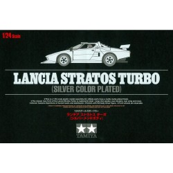 Tamiya 25418 1:24 Lancia Stratos Turbo Silver Color Plated