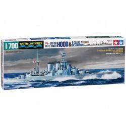 Tamiya 31806 1:700 British Battle Cruiser Hood & E Class Destroyer