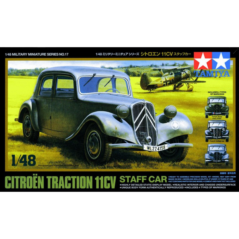 Tamiya 32517 1:48 Citroen Traction 11CV