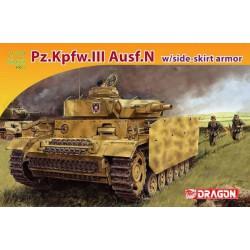 Dragon 7407 1:72 Pz.Kpfw.III Ausf.N w/Side-skirt Armor Pro Serie