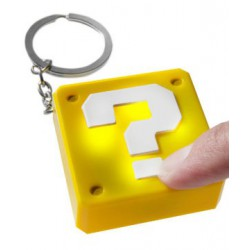 Nintendo Question Block Keychain Light Breloczek