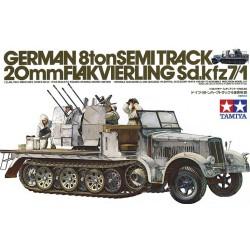 Tamiya 35050 1:35 German 8ton Semi Track 20mm Flakvierling Sd.kfz.7/1