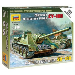Zvezda 6211 1:100 Self-Propeled Gun Su-100