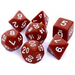 Kości RPG Rebel Matowe Brązowe