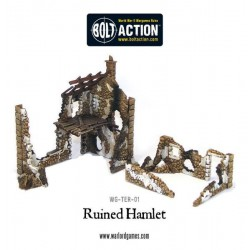 RUINED HAMLET 3X BUILDINGS BOLT ACTION