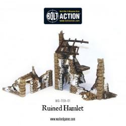 RUINED HAMLET 3X BUILDINGS BOLT ACTION