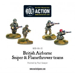 BRITISH AIRBORNE FLAMETHROWER AND SNIPER TEAMS BOLT ACTION