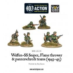 WAFFEN-SS SNIPER, FLAMETHROWER AND PANZERSCHRECK TEAMS  BOLT ACTION