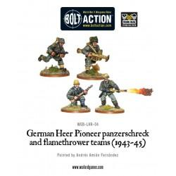 GERMAN HEER PIONEER PANZERSCHRECK AND FLAMETHROWER TEAMS (1943-45) BOLT ACTION