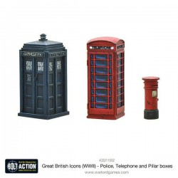 GREAT BRITISH ICONS (WWII) – POLICE, TELEPHONE AND PILLAR BOXES BOLT ACTION
